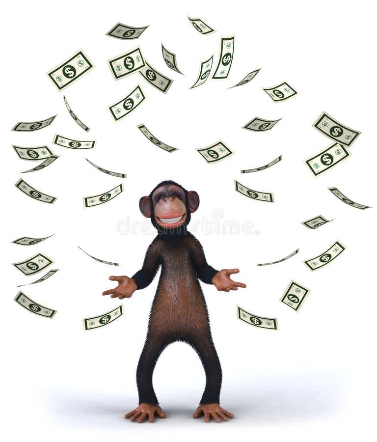 Download Małpa ilustracji. Ilustracja złożonej z przyroda, dolar - 13325338