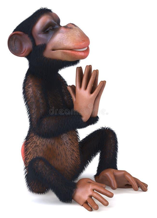 Download Małpa ilustracji. Ilustracja złożonej z ilustracje, joga - 13325350
