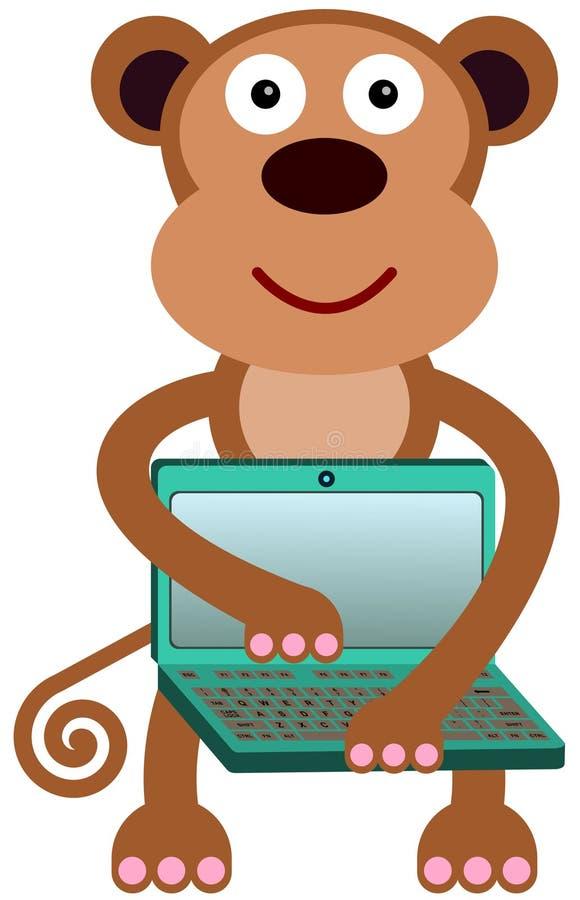 Download Małpa laptop ilustracji. Obraz złożonej z zwierzę, komputer - 33069939