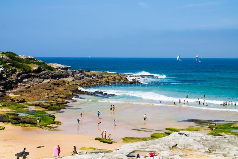 Ma plage locale, Maroubra, à Sydney, Australie photos libres de droits
