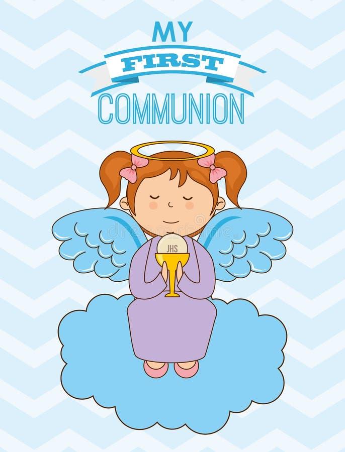Ma première communion illustration de vecteur