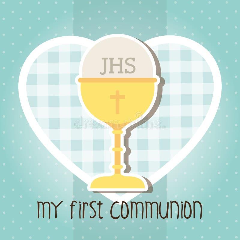 Ma première communion illustration stock
