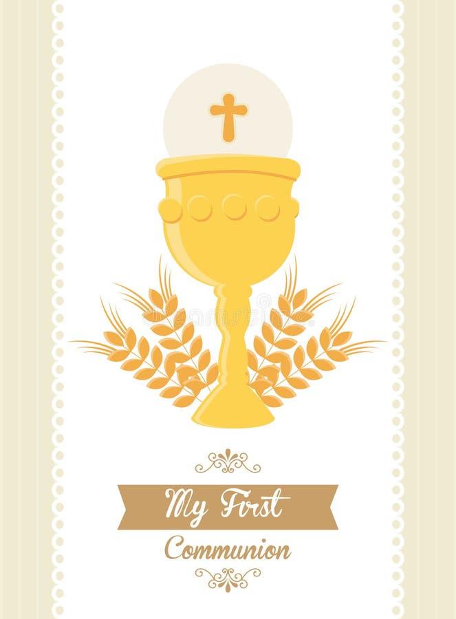 Ma première communion illustration libre de droits