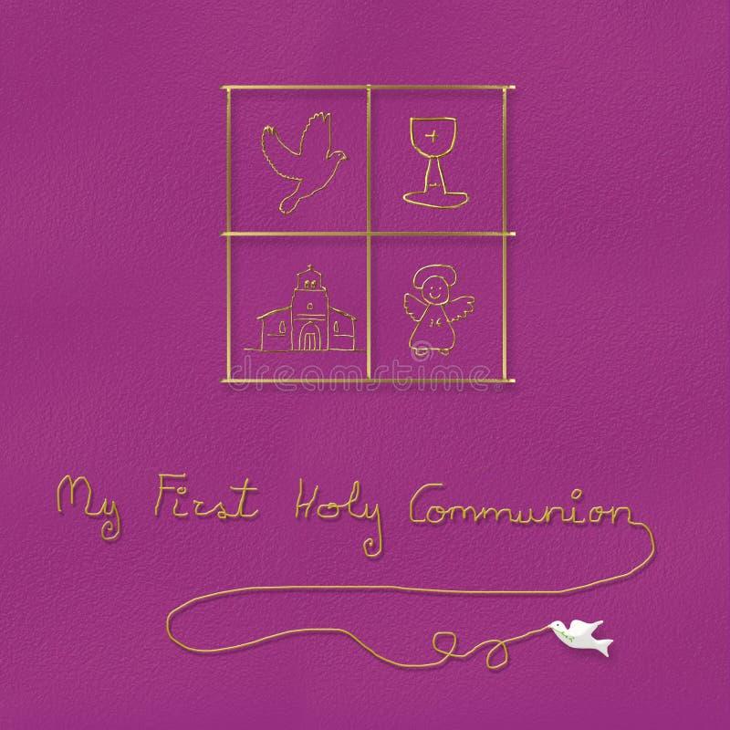 Ma première sainte communion pour la fille illustration libre de droits