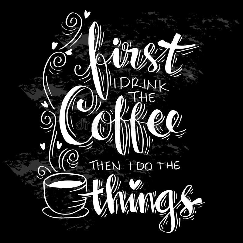 Ma primo caffè illustrazione vettoriale