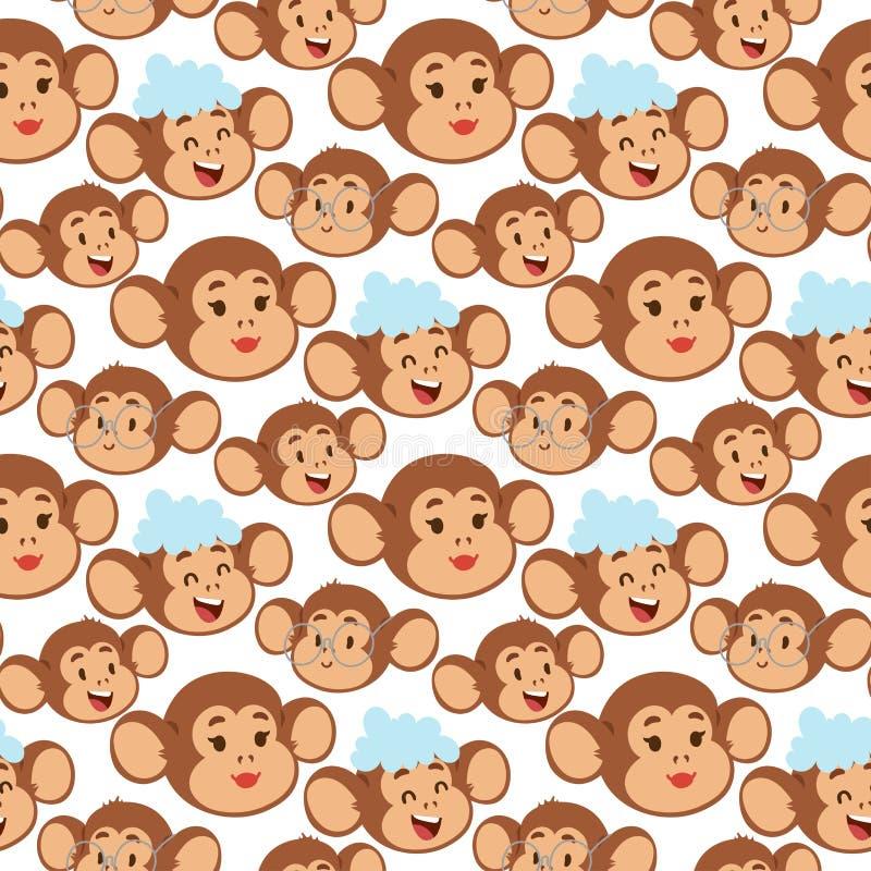 Ma?py kresk?wki rzadki zwierz?cy wektorowy makak jak ludzie natura prymasu charakteru zoo ma?py dzikiego szympansa bezszwowego wz ilustracji