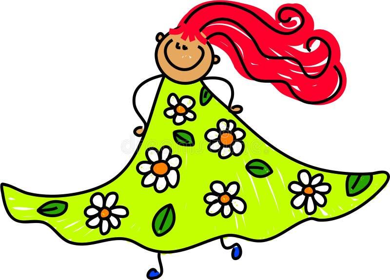 Ma robe florale illustration libre de droits
