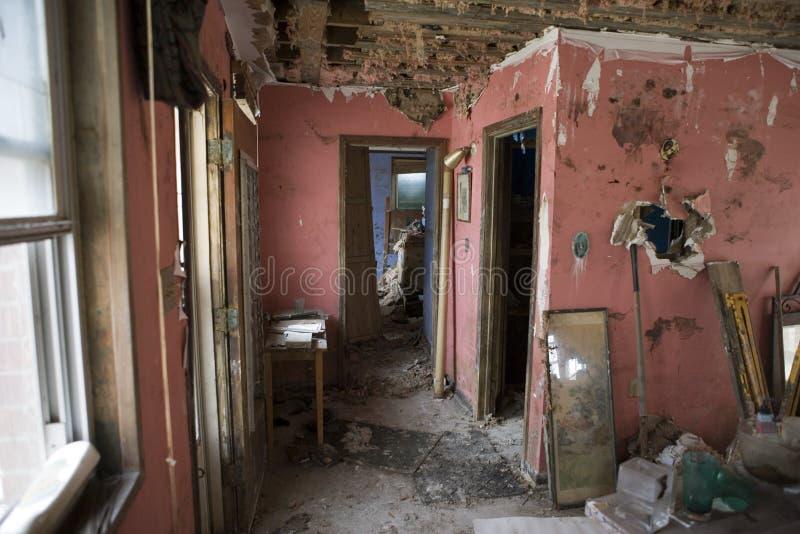 Ma salle de séjour - la Nouvelle-Orléans après Katrina. photographie stock