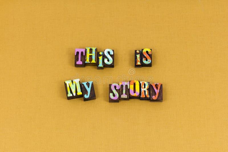 Ma typographie de vision d'expérience d'étude d'histoire photographie stock