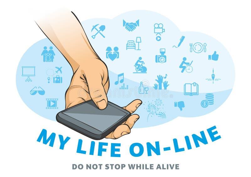 Ma vie en ligne illustration libre de droits