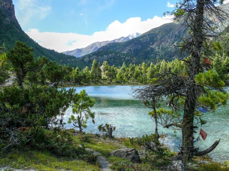 Download Mały Jezioro Pod Annapurna 2, Nepal Zdjęcie Stock - Obraz złożonej z greenbacks, góra: 53790592