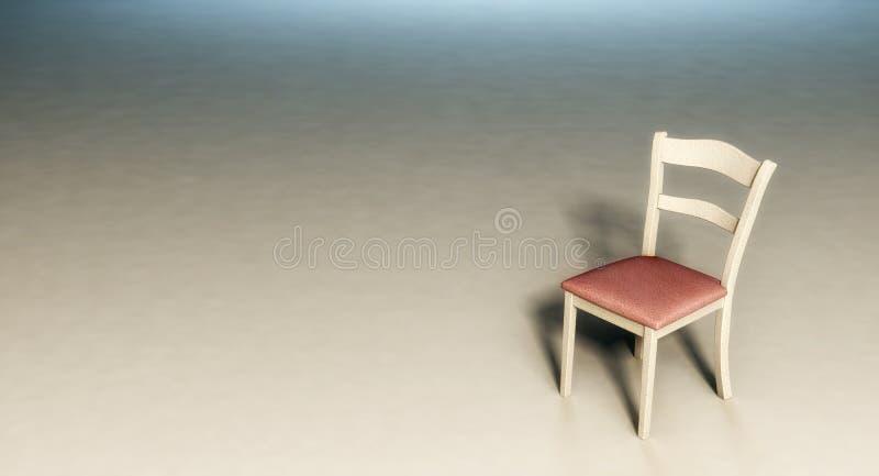Ma?y krzes?o w pustym pokoju ilustracja wektor