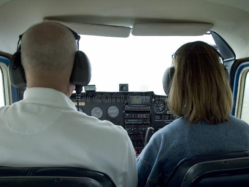Download Mały samolot do kokpitu obraz stock. Obraz złożonej z pilot - 132163