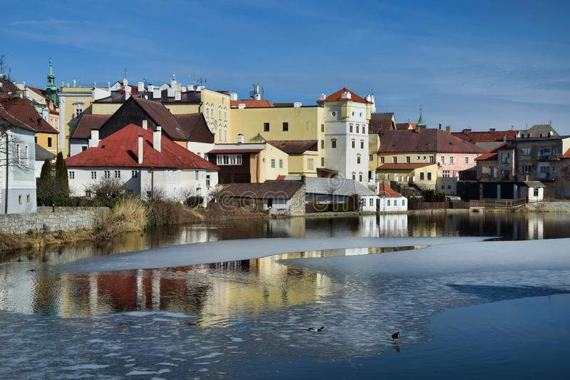 Ma?y Vajgar i historyczni budynki obrazy royalty free