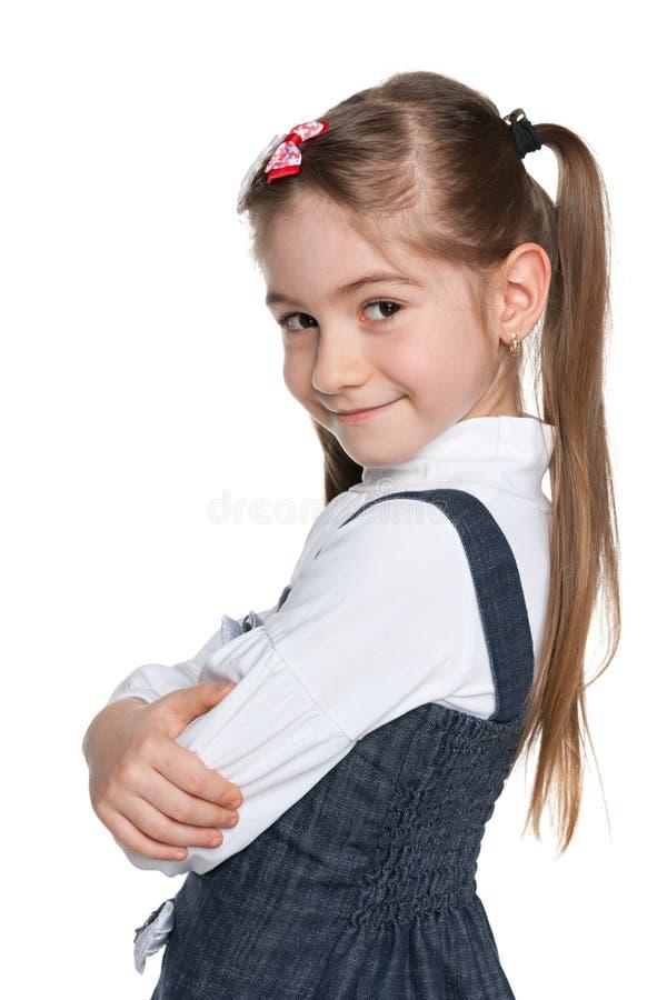 Download Małych Dziewczynek Spojrzenia Z Powrotem Obraz Stock - Obraz złożonej z uroczy, osoba: 41951459