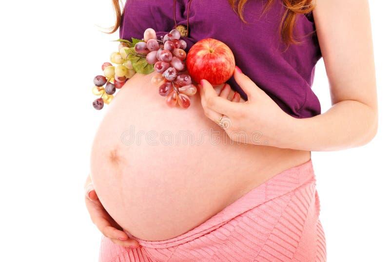 Maag van de zwangere vrouw royalty-vrije stock fotografie