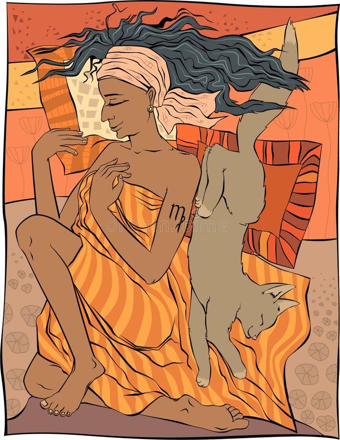 Maagd royalty-vrije illustratie