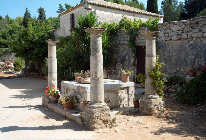 Maagdelijk Anafonitria-Klooster, Zakynthos, Griekenland stock afbeeldingen