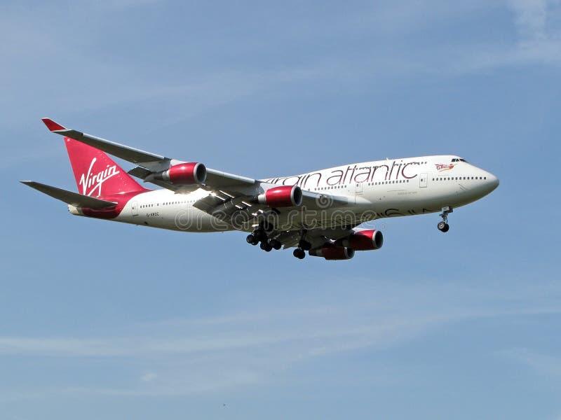 Maagdelijke Atlantische Luchtvaartlijnen stock afbeelding