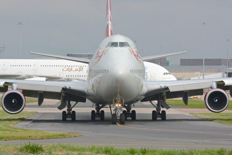 Maagdelijke Atlantische Oceaan 747 - 400 royalty-vrije stock foto