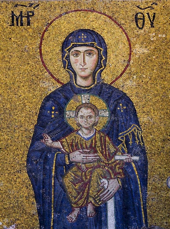 Maagdelijke Mary en het kind royalty-vrije stock afbeeldingen