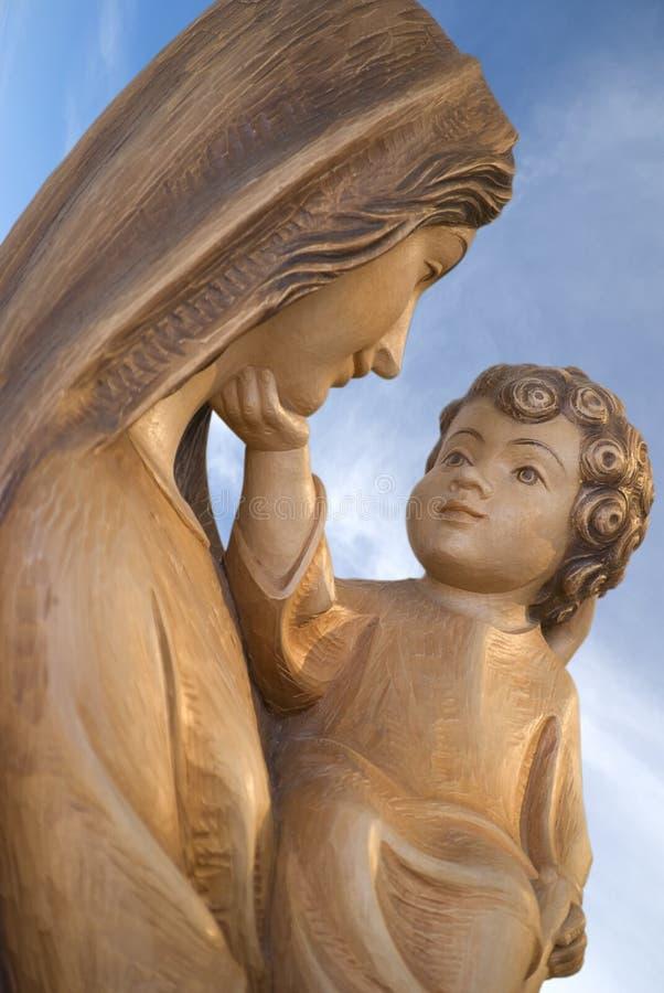 Maagdelijke Mary en Jesus royalty-vrije stock afbeelding