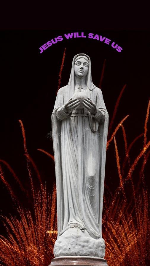 Maagdelijke Mary, moeder van Jesus royalty-vrije illustratie