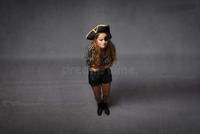 Maagpijn voor een piraat royalty-vrije stock foto's