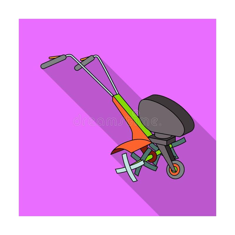 Maaimachines voor scherp gras en gazon Landbouwmachines voor het hof vector illustratie
