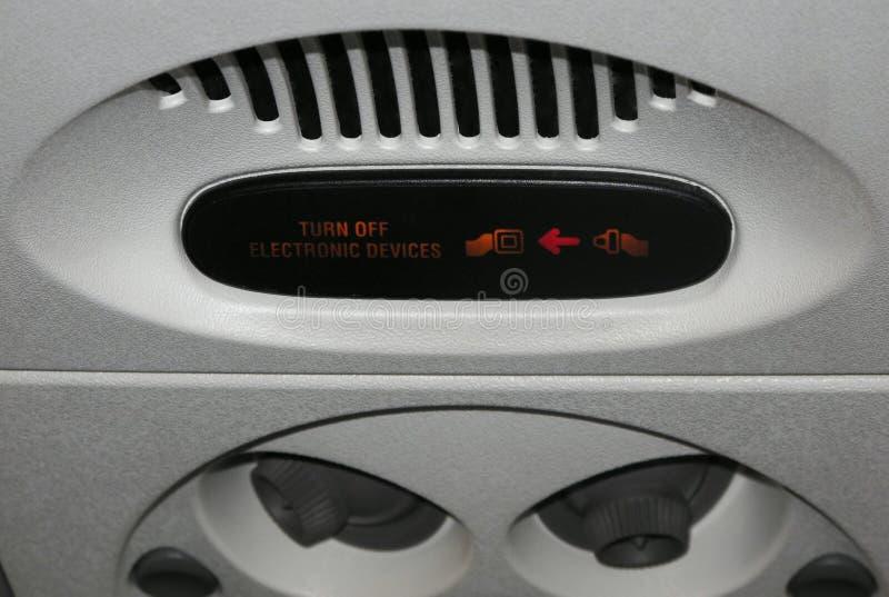 Maak de Draai van de Veiligheidsgordel van het Elektronische Teken van Apparaten vast stock afbeeldingen