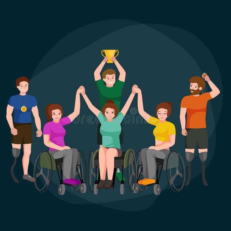 Maak de Spelen van Paralympic van de Handicapsport onbruikbaar royalty-vrije illustratie