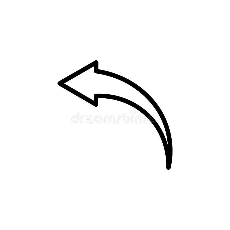 Maak duidelijk, pijl, achterpictogram ongedaan Kan voor Web, embleem, mobiele toepassing, UI, UX worden gebruikt vector illustratie