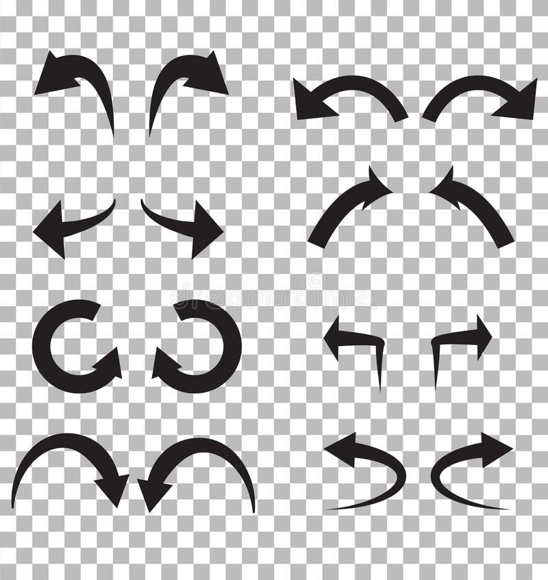 Maak en doe pictogram op transparante achtergrond ongedaan over Vlakke stijl vector illustratie