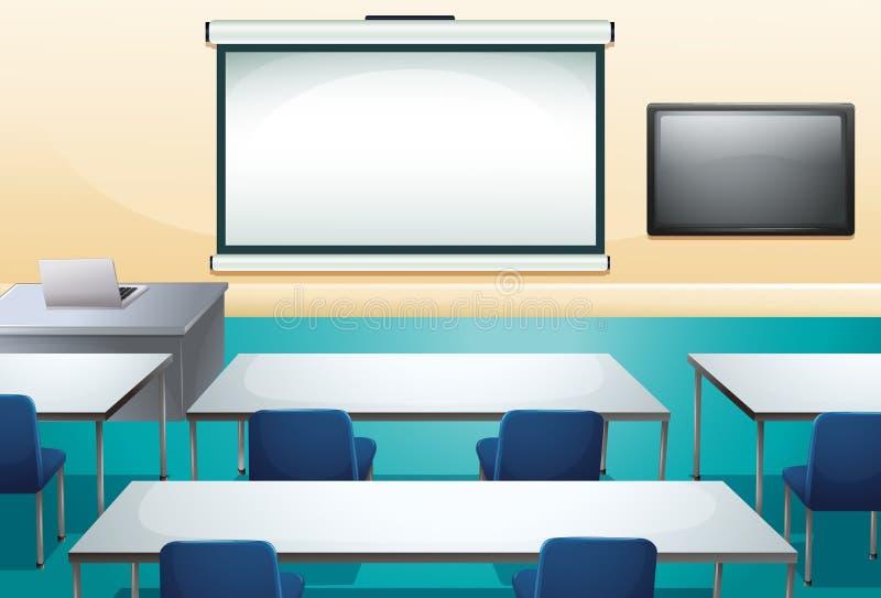 Maak en ogranized klaslokaal schoon royalty-vrije illustratie