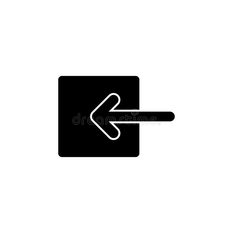 Maak, gehechtheid, paperclip pictogram vast De tekens en de symbolen kunnen voor Web, embleem, mobiele toepassing, UI, UX worden  stock illustratie