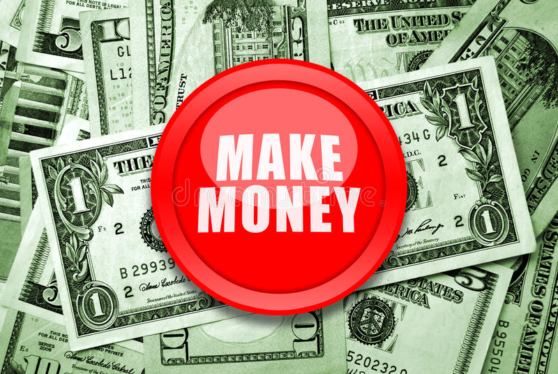 Maak Geld royalty-vrije stock foto's