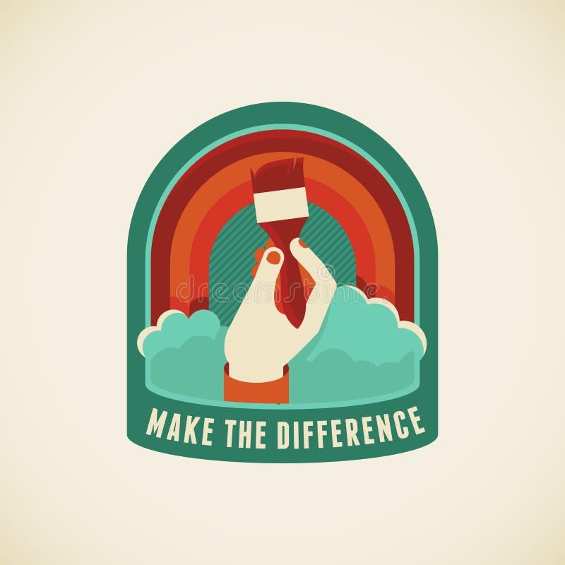 Maak het verschil vector illustratie