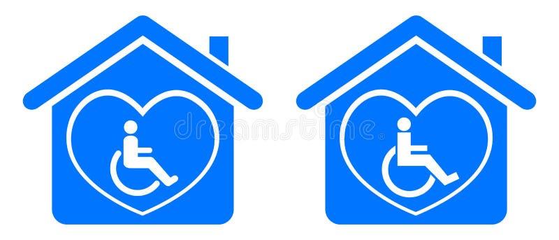 Maak huis onbruikbaar stock illustratie
