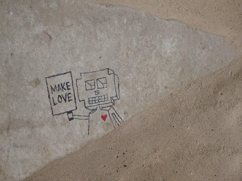 Maak liefde stock afbeelding