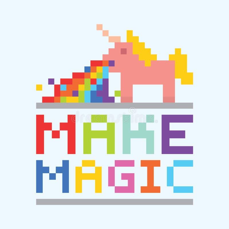 Maak magische eenhoornillustratie stock afbeelding
