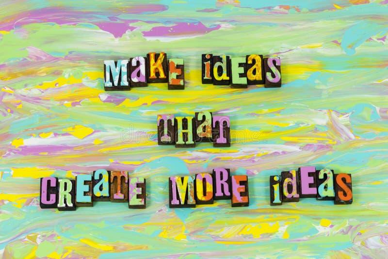 Maak meer het succes van ideeideeën tot stand brengen type van planningsletterzetsel stock illustratie