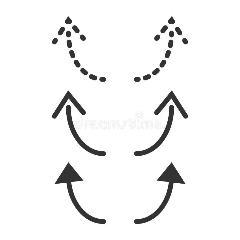 Maak overdoen het Ontwerpillustratie van het Pictogram Vectormalplaatje ongedaan vector illustratie