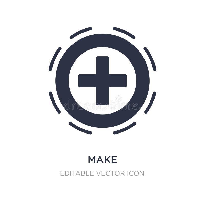 maak pictogram op witte achtergrond Eenvoudige elementenillustratie van UI-concept royalty-vrije illustratie