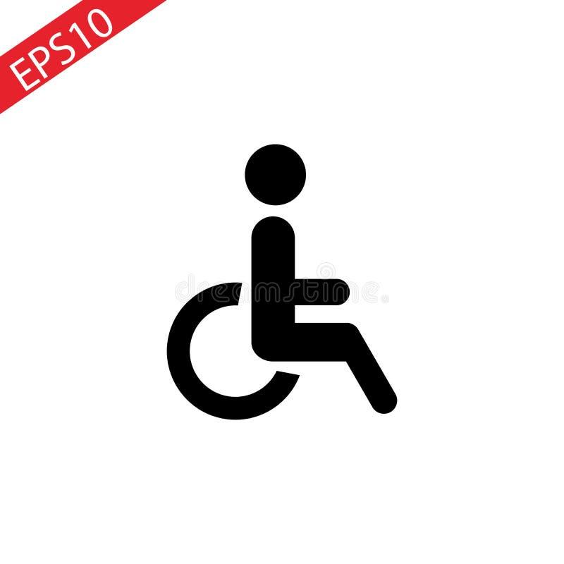Maak pictogramvector onbruikbaar Gehandicapt Handicappictogram in cirkel Vector illustratie vector illustratie
