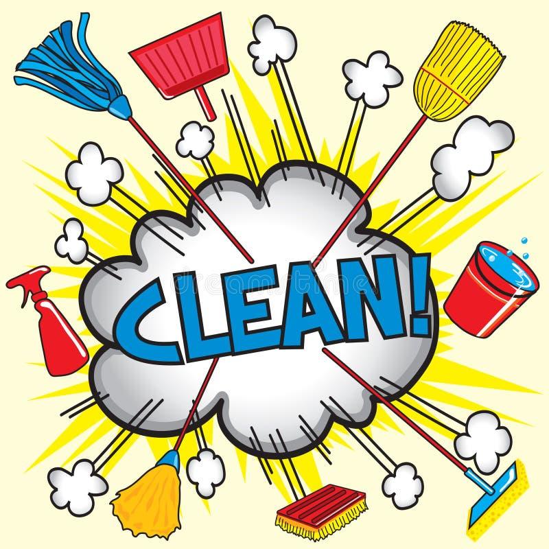 Maak schoon! royalty-vrije illustratie