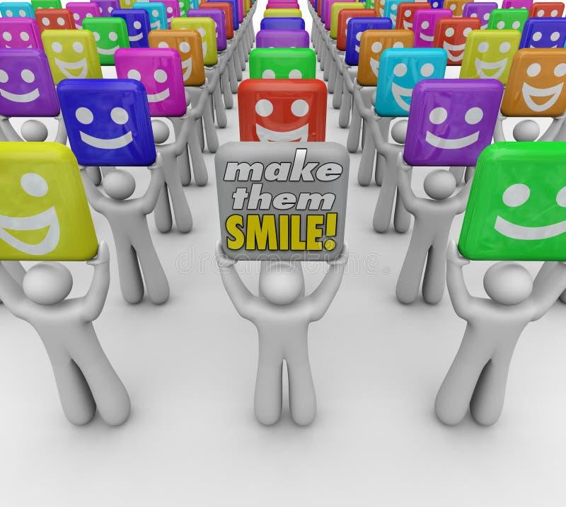 Maak tot hen de Mensen van Glimlachwoorden Gelukkige Goede Stemmingen stock illustratie