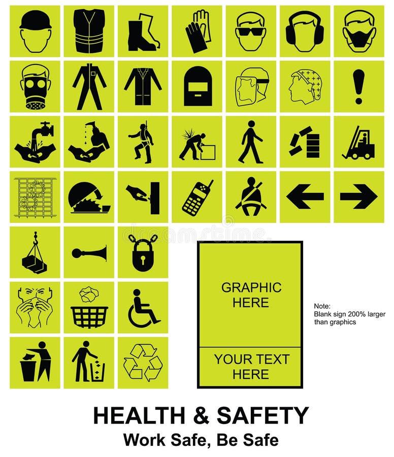 Maak uw eigen Gezondheid en Veiligheidstekens vector illustratie