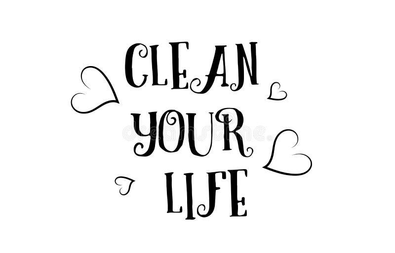 maak uw van het het citaatembleem van de het levensliefde van de de groetkaart de afficheontwerp schoon stock illustratie
