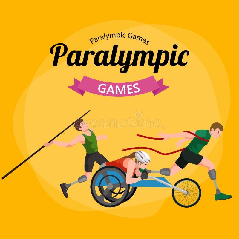 Maak van de de Spelenstok van de Handicapsport de Pictogrammen van het het Cijferpictogram onbruikbaar stock illustratie