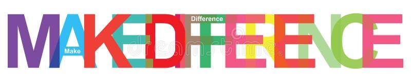 Maak verschil stock illustratie